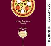 italian traditional food vector ... | Shutterstock .eps vector #1218254800
