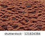 Chocolate Chips Ice Cream Detail