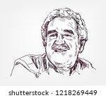 gabriel  garcia marquez  vector ... | Shutterstock .eps vector #1218269449