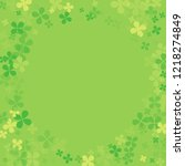 abstract colorful green frame... | Shutterstock .eps vector #1218274849