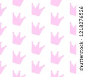 simple crown vector seamless... | Shutterstock .eps vector #1218276526