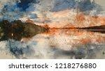 Digital Watercolour Painting Of ...