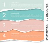 set of four color infographics...   Shutterstock .eps vector #1218280786