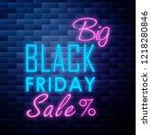 vintage black friday sale emblem   Shutterstock .eps vector #1218280846
