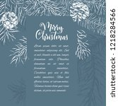 christmas sketch hand drawn... | Shutterstock .eps vector #1218284566