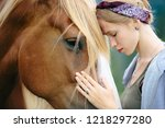 Portrait Of Girl And Horse ...