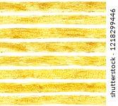 hand drawn golden paint stripes ... | Shutterstock . vector #1218299446