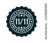 11.11 singles day sale label... | Shutterstock .eps vector #1218300580