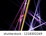 bright chaotic lights with... | Shutterstock . vector #1218302269