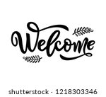 Welcome Calligraphy Lettering...