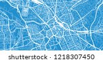 urban vector city map of... | Shutterstock .eps vector #1218307450