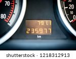 digital car odometer in... | Shutterstock . vector #1218312913