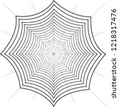 spiderweb made of thin filaments | Shutterstock .eps vector #1218317476