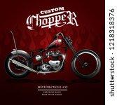 classic chopper motorcycle...   Shutterstock .eps vector #1218318376