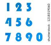 polygonal numerals. creative...   Shutterstock .eps vector #1218319060