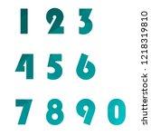 polygonal numerals. creative...   Shutterstock .eps vector #1218319810