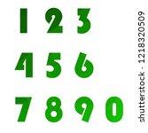 polygonal numerals. creative...   Shutterstock .eps vector #1218320509