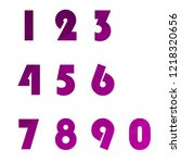 polygonal numerals. creative...   Shutterstock .eps vector #1218320656