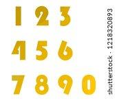 polygonal numerals. creative...   Shutterstock .eps vector #1218320893