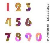 polygonal numerals. creative...   Shutterstock .eps vector #1218321823