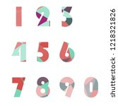 polygonal numerals. creative...   Shutterstock .eps vector #1218321826