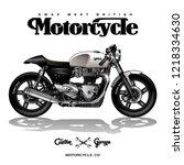vintage cafe racer poster | Shutterstock .eps vector #1218334630