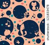 cute childish seamless pattern... | Shutterstock .eps vector #121833478
