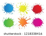 colorful vector blots.paint... | Shutterstock .eps vector #1218338416
