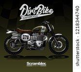 vintage custom motorcycle poster   Shutterstock .eps vector #1218344740