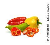 fresh  nutritious  tasty... | Shutterstock .eps vector #1218346303