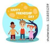 happy friendship day banner... | Shutterstock .eps vector #1218351259