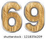 numeral 69  sixty nine ... | Shutterstock . vector #1218356209