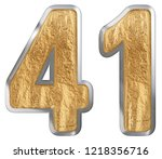 numeral 41  forty one  isolated ...   Shutterstock . vector #1218356716