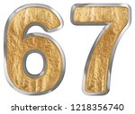 numeral 67  sixty seven ... | Shutterstock . vector #1218356740
