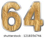 numeral 64  sixty four ... | Shutterstock . vector #1218356746