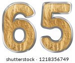 numeral 65  sixty five ... | Shutterstock . vector #1218356749