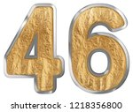 numeral 46  forty six  isolated ...   Shutterstock . vector #1218356800