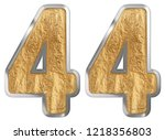 numeral 44  forty four ...   Shutterstock . vector #1218356803