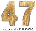numeral 47  forty seven ...   Shutterstock . vector #1218356806