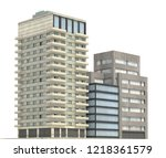 modern buildings isolated on... | Shutterstock . vector #1218361579