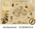 vintage geographical map... | Shutterstock .eps vector #1218364213