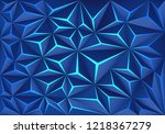 abstract blue polygon crack... | Shutterstock .eps vector #1218367279