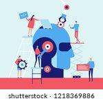 artificial intelligence   flat... | Shutterstock . vector #1218369886
