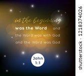 biblical scripture verse from... | Shutterstock .eps vector #1218374026