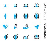 people icons  work group team... | Shutterstock .eps vector #1218374959