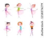 little ballerina. vector... | Shutterstock .eps vector #1218376279