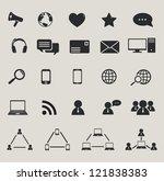 social media and computer... | Shutterstock .eps vector #121838383