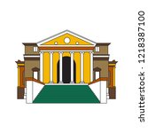 institution line drawing | Shutterstock .eps vector #1218387100