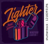 lighter in neon colors. vector... | Shutterstock .eps vector #1218393196