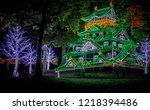 osaka castle night illumination ...